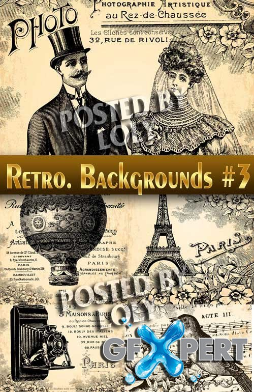 Retro. Backgrounds #3 - Stock Vector