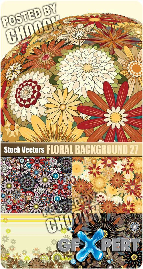Floral background 27 - Stock Vector
