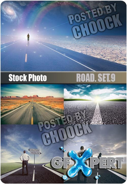 Road. Set.9 - Stock Photo