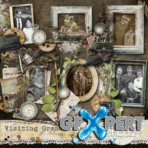 Vintage scrap kit - Visiting Grandfather