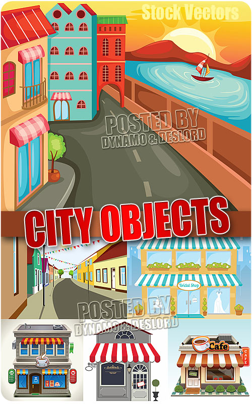 City Objects - Stock Vectors