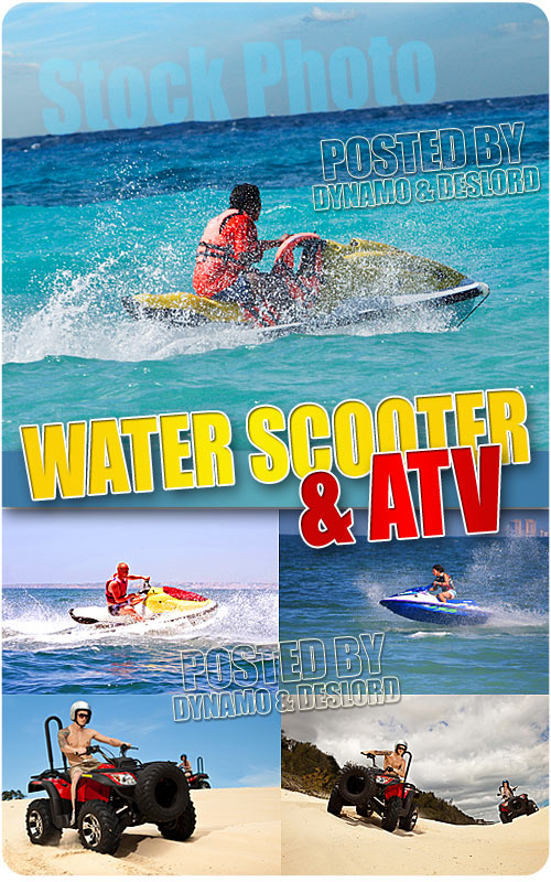 Water scooter and ATV - UHQ Stock Photo