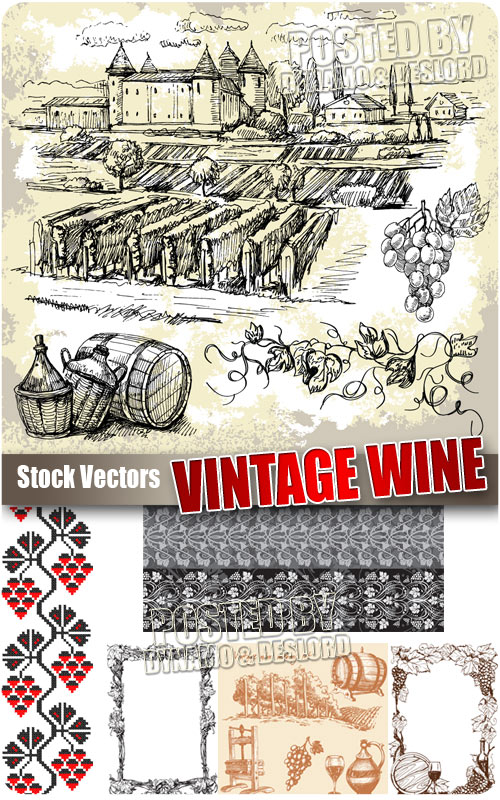 Vintage wine - Stock Vectors