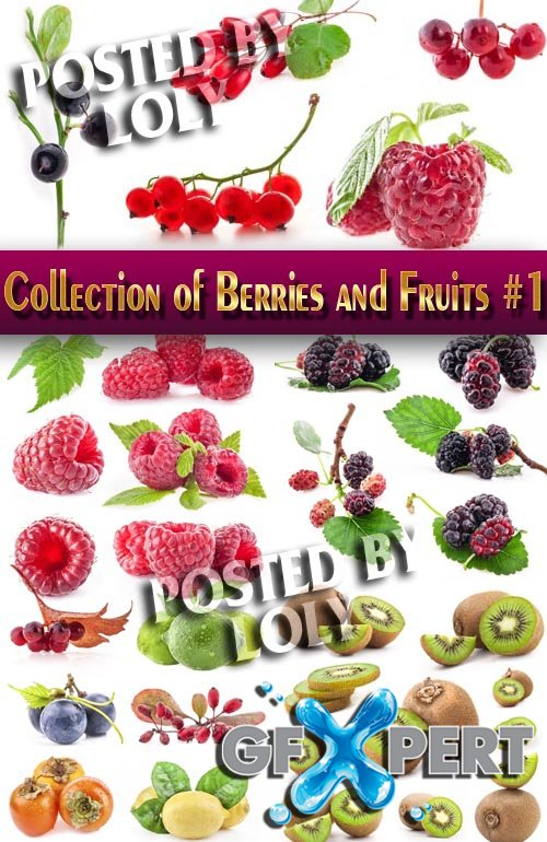 Food. Mega Collection. Berries and Fruits #1 - Stock Photo