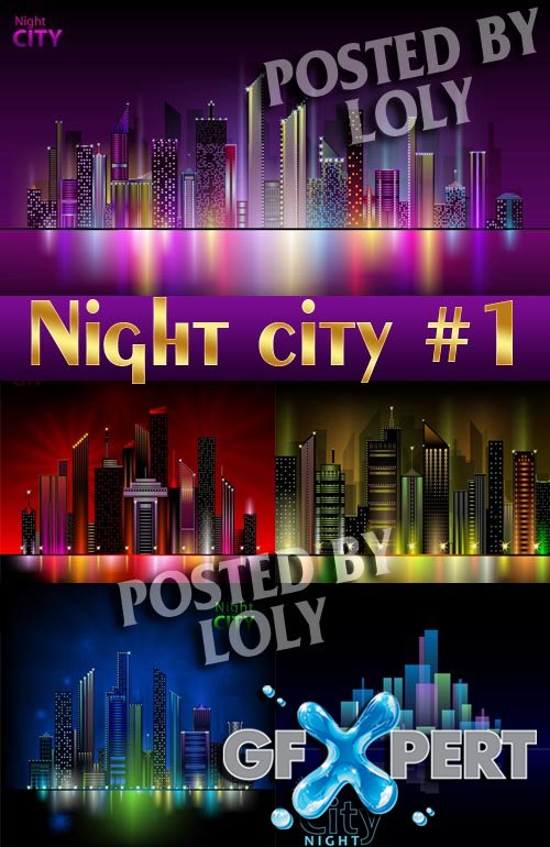 Night City #1 - Stock Vector