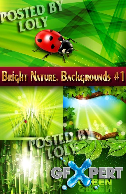 Bright Nature. Backgrounds #1 - Stock Vector