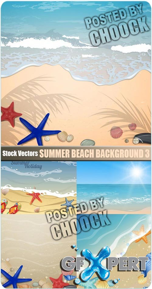 Summer beach background 3 - Stock Vector