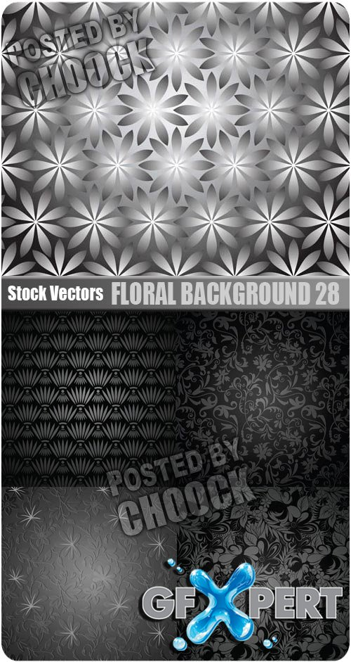 Floral background 28 - Stock Vector