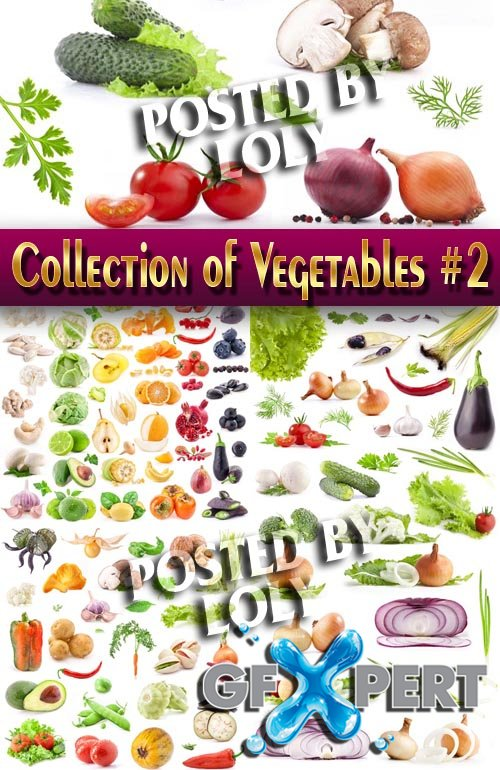 Food. Mega Collection. Vegetables #2 - Stock Photo