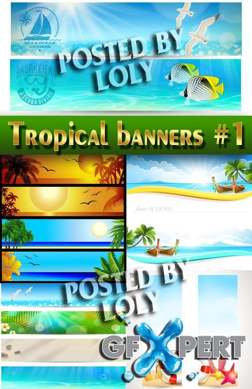 Tropical Banner #1 - Stock Vector