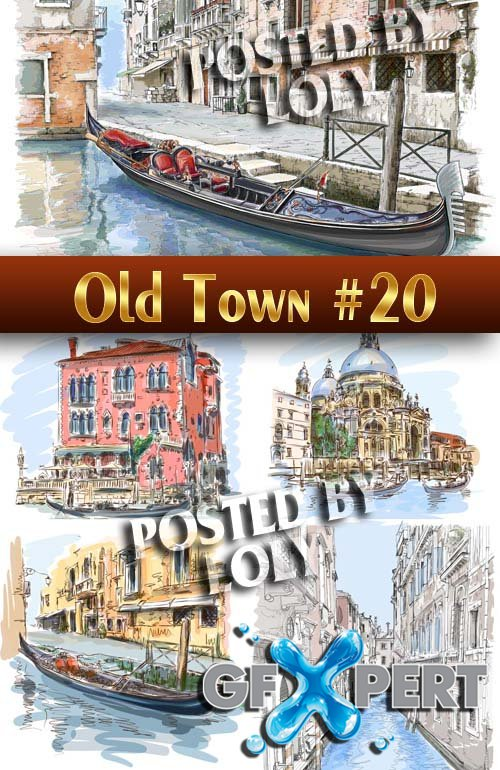 Old Town #20 - Stock Vector