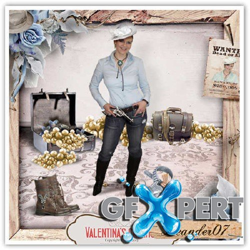 Scrapbooking set - Western Wedding