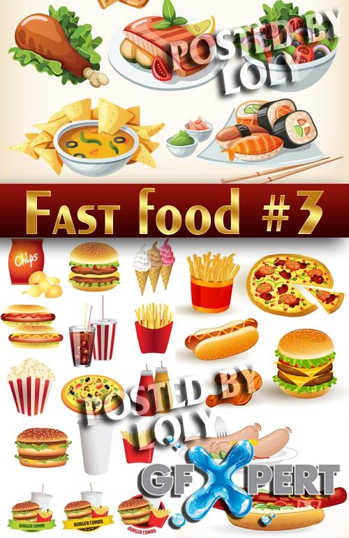 Fast Food #3 - Stock Vector