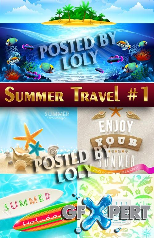 Summer travel #1 - Stock Vector