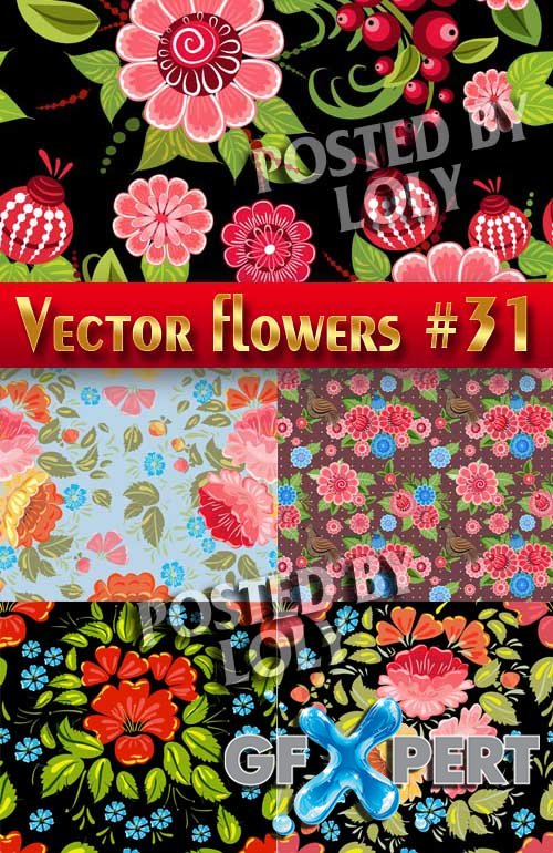 Vector Flowers #31 - Stock Vector