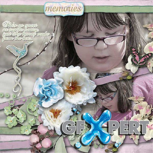 Scrapbooking kit - Meet me in the Garden