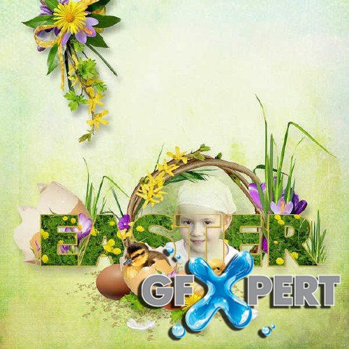Scrapbooking set - Happy Easter