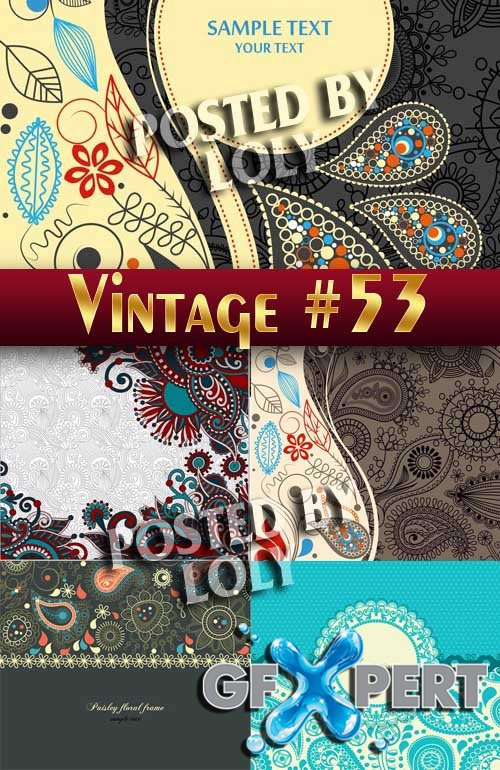 Vintage backgrounds #53 - Stock Vector