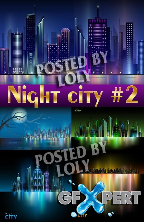 Night City #2 - Stock Vector