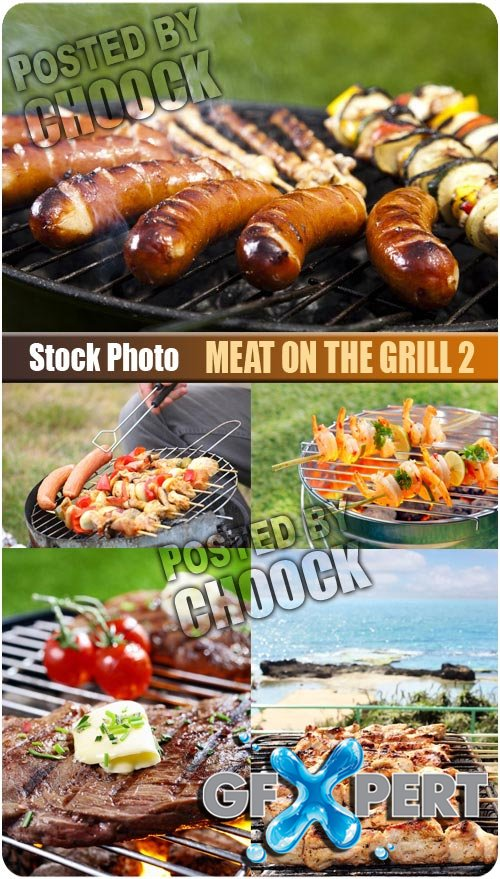 Meat on the grill 2 - Stock Photo