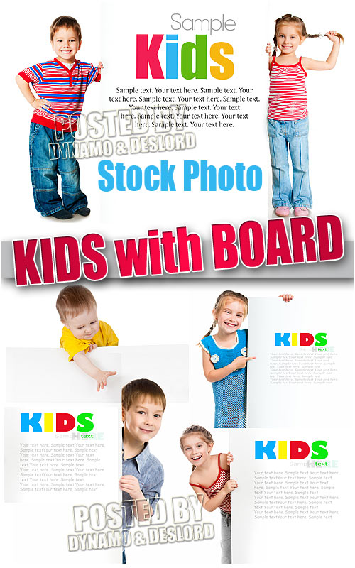 Kids with board - UHQ Stock Photo