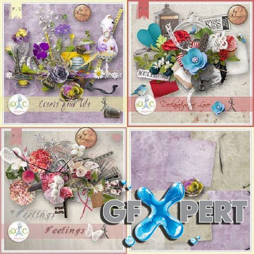 Pack of scrap kits by Yelina