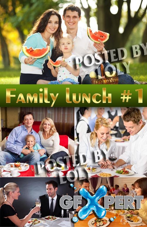 Family lunch #1 - Stock Photo