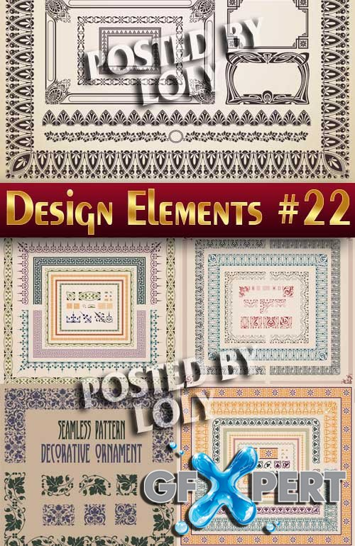 Design elements #22 - Stock Vector