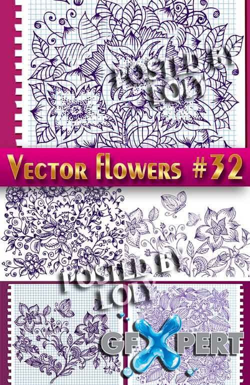 Vector Flowers #32 - Stock Vector