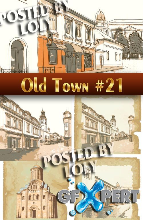 Old Town #21 - Stock Vector