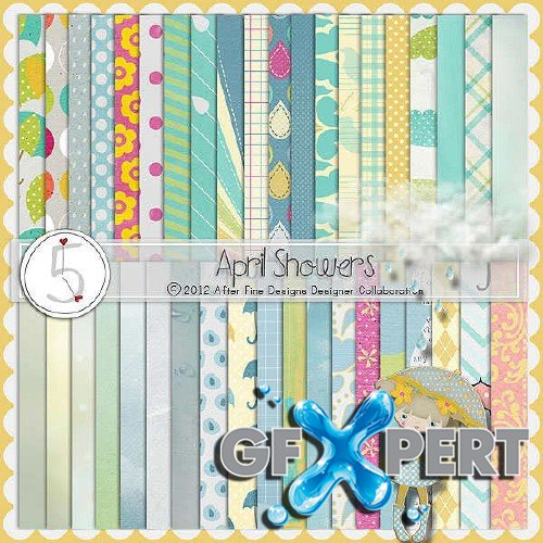 Scrap set - April showers