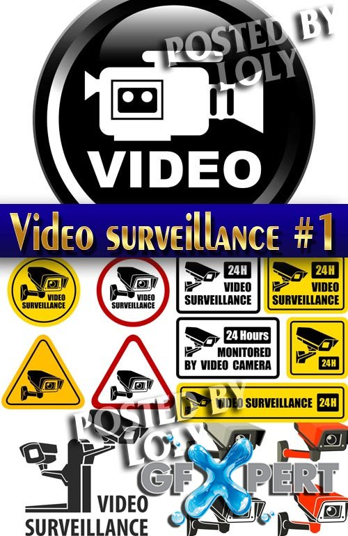 Video surveillance #1 - Stock Vector