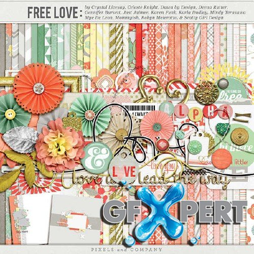 Scrapbooking set - Free Love