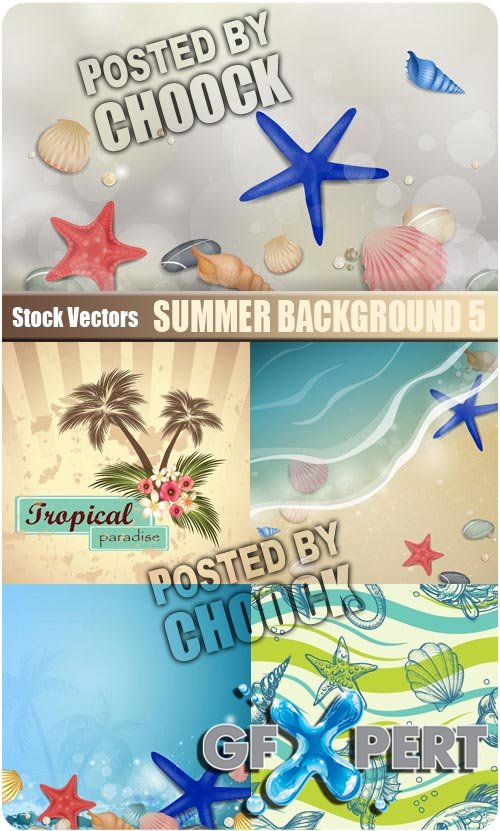 Summer background 5 - Stock Vector