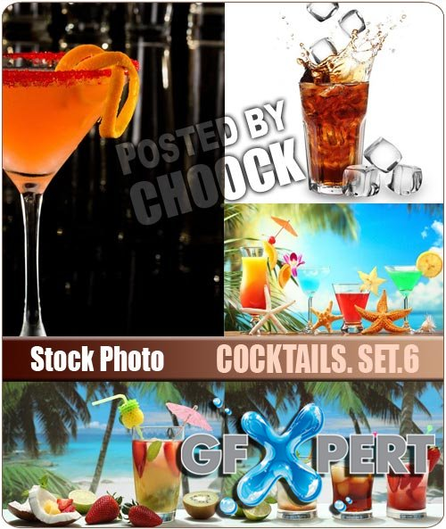 Cocktails. Set.6 - Stock Photo