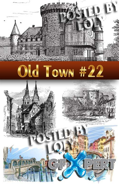 Old Town #22 - Stock Vector