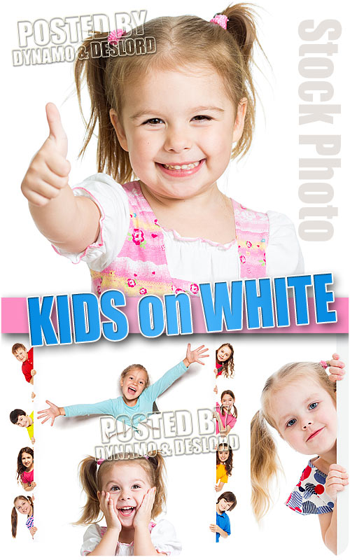 Kid on white - UHQ Stock Photo