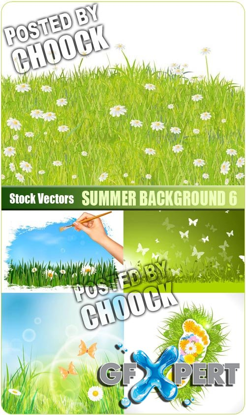 Summer background 6 - Stock Vector