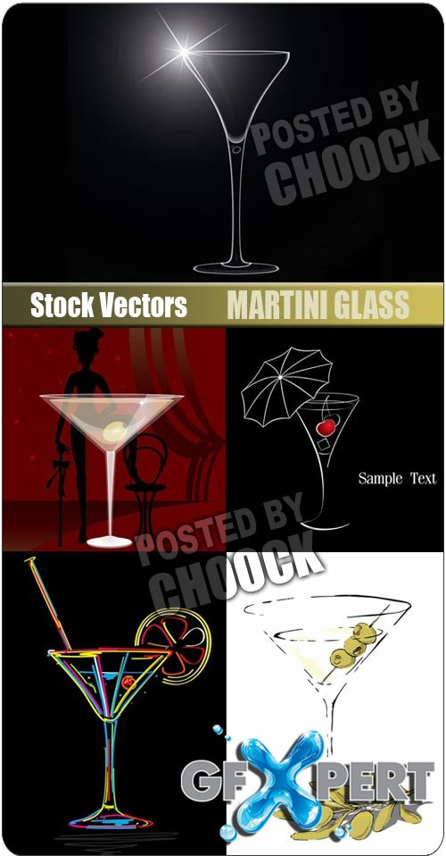 Martini glass - Stock Vector