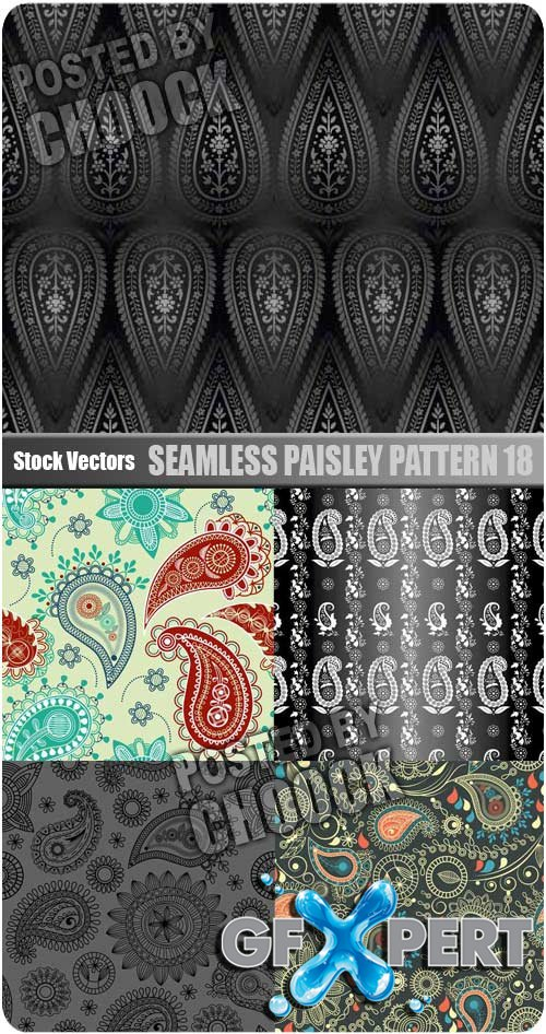 Seamless paisley pattern 18 - Stock Vector