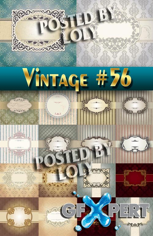 Vintage backgrounds #56 - Stock Vector