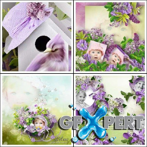 Digital scrapbooking set - Lilac Scent