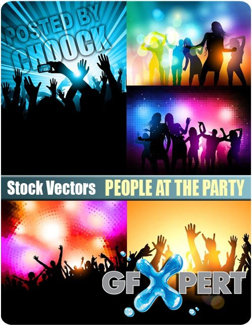 People at the party - Stock Vector