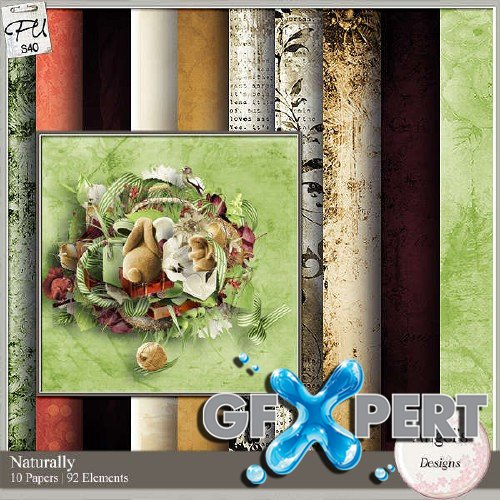 Scrapbooking kit - Naturally