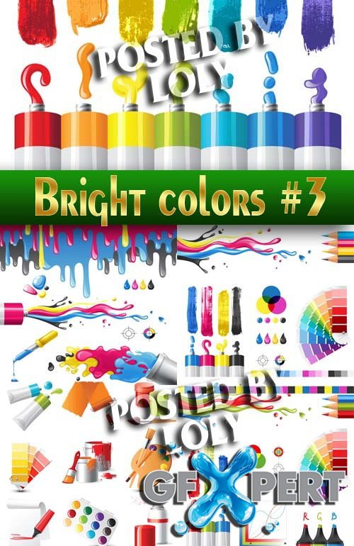 Bright colors #3 - Stock Vector