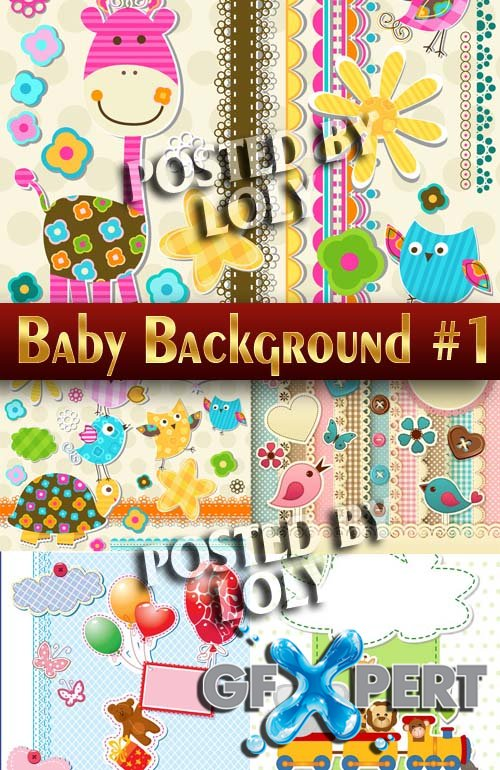 Baby backgrounds #2 - Stock Vector