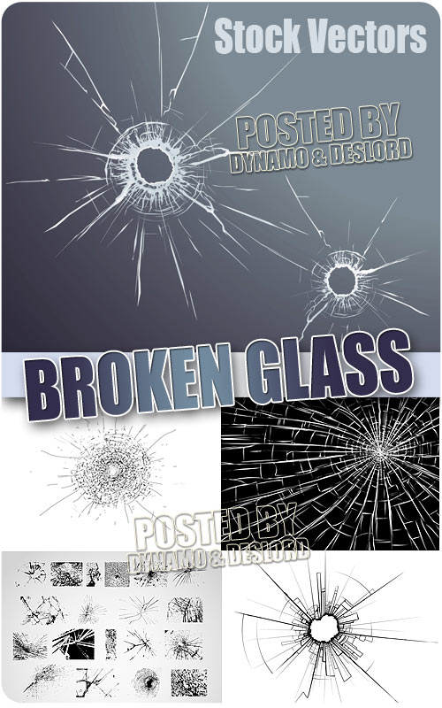 Broken glass - Stock Vectors