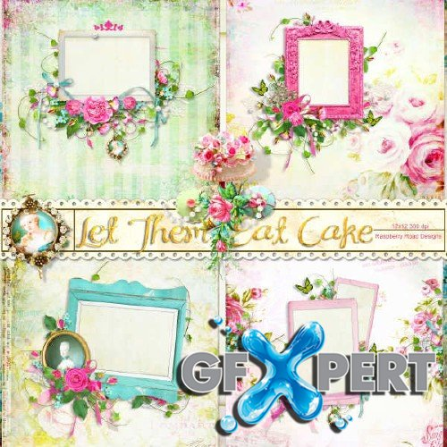 Digital scrapbooking set - Let Them Eat Cake