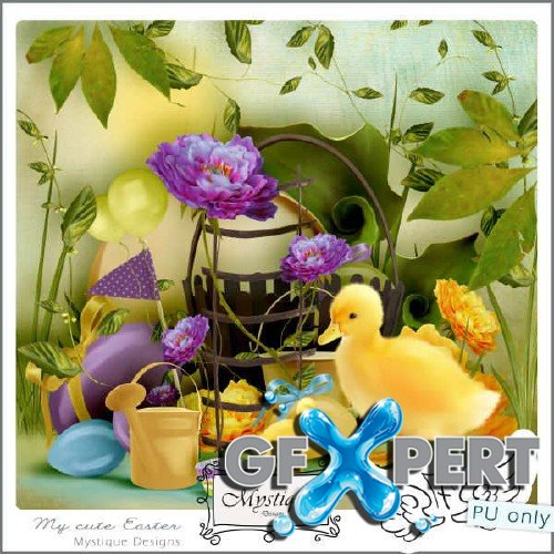 Digital scrap kit - My cute Easter