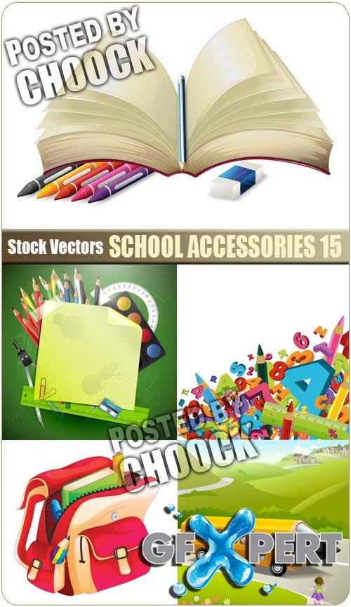 School accessories 15 - Stock Vector